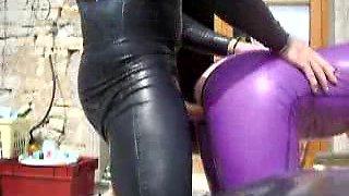 Purple Latex Outdoor Fuck