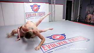 Nude Wrestling Fight, Kay Carter Gets Rough Fucking in the Ring