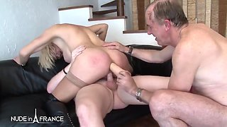 Anais Horny mature very hard fucked, fisted and double