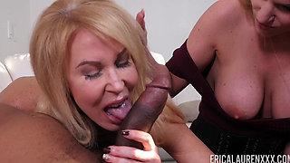 Erica Lauren and Rachael Cavalli share a cock