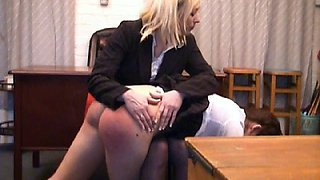 Emma spanked with and without white panties