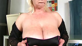 Huge tits on horny blonde cougar Kimi