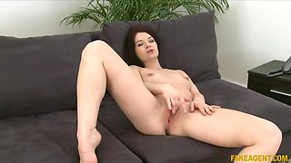 Sexy student gets fucked hard in casting interview