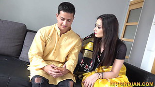Cheating Indian Bhabhi gets her big Ass fucked by Devar