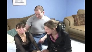 Dad, Mom, And Girl Enjoy Being Naked
