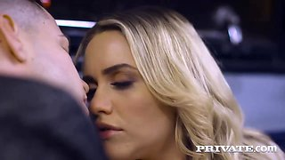 Seductive blonde chick, Mia Malkova did not know about a hidden camera while she was cheating