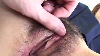 Asian wife Makoto Kurosaki pleasured with a vibrator until orgasm