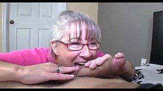 Older Moms handjob and blowjob