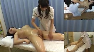 Sexy massage video with hot brunette who is masturbated