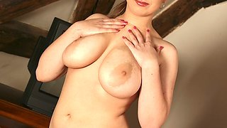 beautiful girl with huge natural tits...