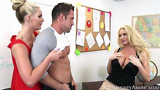 Two experienced teachers share a cock