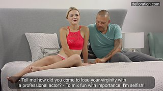 Barely legal coed Mila De Armas has sex for the first time on camera