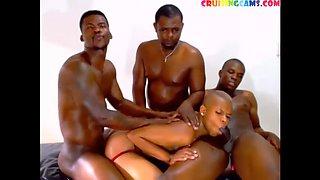 Deepthroat gay&#39s blowjob live on Cruisingcams.com