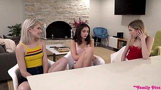 Jane Wilde, Jessie Saint, Mackenzie Moss - My Step Sisters Seduce Me On Valentines Day