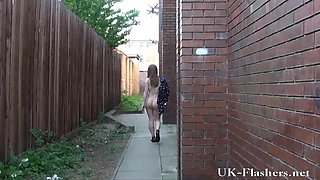Legal Age Teenager public nudity and Lauras non-professional flashing outdoors