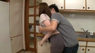 Dad&#39s new wife was molested by son in kitchen pt2 on hdmilfcam.com