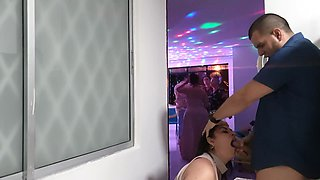 my husband's stepbrother fucks me at his party secretly and ends up in my mout film
