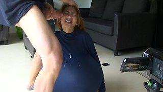 Vaccum big dick cockring extreme blowjob swallow farang