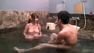 bath turns into steamy sex scene