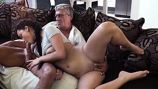 Daddy teaching playfellow's step daughter and russian What w