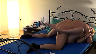 German couple first time homemade porn with skinny blonde