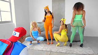 Dashing Pokemon xxx porn play on the couch along Kelsi Monroe