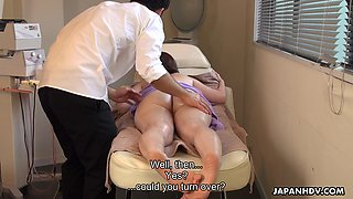 That Japanese babe has perfect round buns and she loves erotic massage