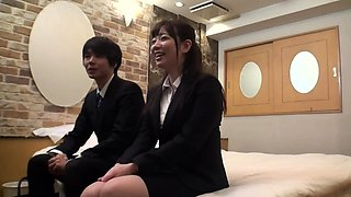 Hot Japanese nurse is a busty and horny chick in a uniform