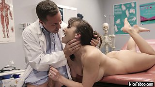 Dirty MILF cheated husband with doctor with big cock