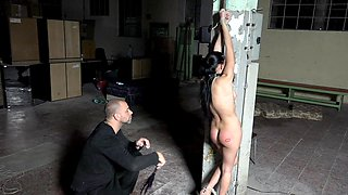 Kinky dude loves to tie up his wife Nicole Love and spank her