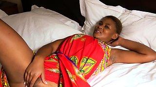 African Amateur Dildo Casting and Big Facial