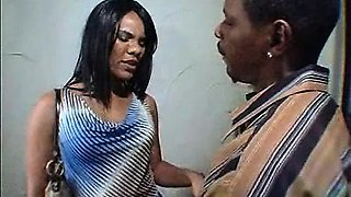 Ebony mom and daughter fuck and suck a lucky guy!