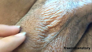 Indian gf masturbates at home alone