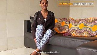 Hot Bald African Teen Tries Porn