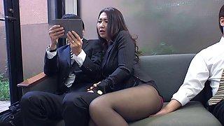 Office slut seducing her bosses