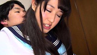 Petite Oriental schoolgirl gets her cunt licked and fucked