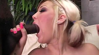 Devoted dame with a piercing agrees to a thrilling interracial  group sex
