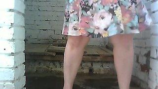 Chunky stranger white lady got her thick massive ass filmed on cam nude
