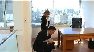 Luciana Heger gets Her Clothes Ripped Off in a Hot Office Fuck