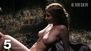 Stacked vampire beauty goes to a barn to have sex with her lover
