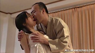 Sex with Jap housewife in the sack
