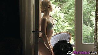 blonde european riding masturbation