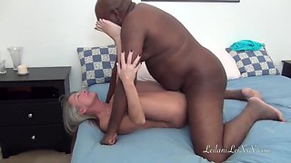Leilani Lei is a mature, blonde slut who likes to fuck black guys quite often