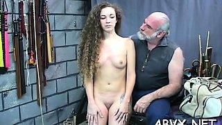 Naked doll fetish bondage sex scenes with older stud
