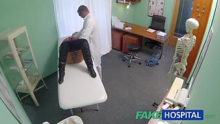 Married wife with fertility problem has pussy examined and drilled by the doctor