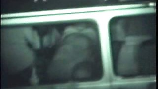 Midnight sexual intercourse inside the car