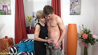75 years old granny loves toyboy