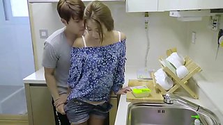 korean softcore collection hot romantic kitchen fuck with sex toy