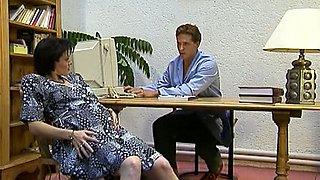 Pale skin redhead German milf housewife loves fisting