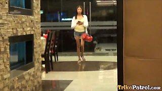 Super petite Filipina babe Kiana gets her tiny pussy crushed